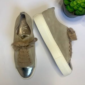 NWOB AGL Leather Lace Sneakers SZ 8 US/39 EUR